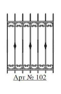 Решетка стальная Святогор для окон арт. 102