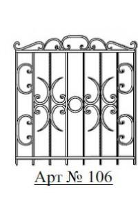 Решетка стальная Святогор для окон арт. 106