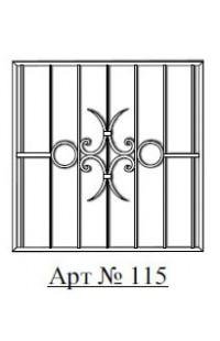 Решетка стальная Святогор для окон арт. 115