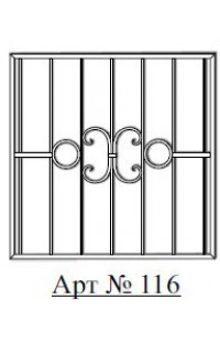 Решетка стальная Святогор для окон арт. 116