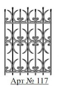Решетка стальная Святогор для окон арт. 117