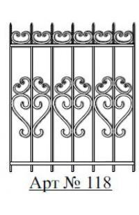 Решетка стальная Святогор для окон арт. 118