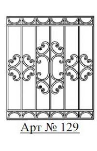 Решетка стальная Святогор для окон арт. 129