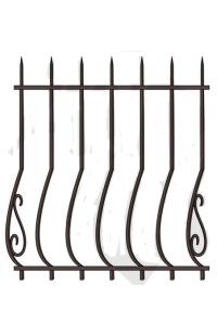 Решетка стальная Святогор для окон 1201 французская