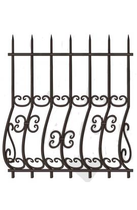 Решетка стальная Святогор для окон 1261 французская