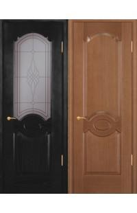 Карамель ПГ Покровские двери шпон массив сосны